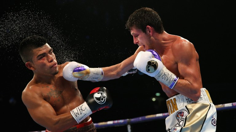 Gavin McDonnell hits Jorge Sanchez with a big right