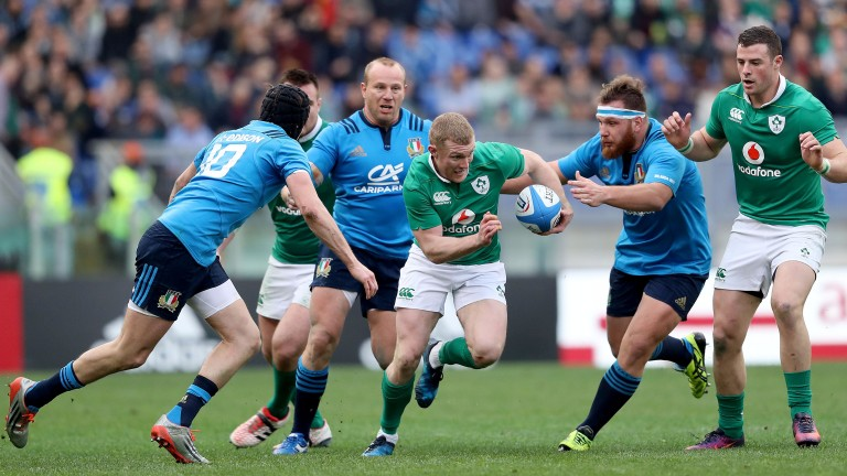 Keith Earls had a field day against Italy