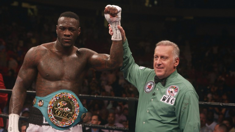 WBC world heavyweight champion Deontay Wilder
