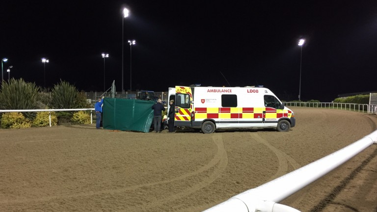 Danny Sheehy: suffered a nasty fall off Mosman at Dundalk