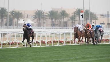 Chopin (Alberto Sanna)wins the Emir's TrophyAl Rayyan racecourse, Doha, Qatar 25.2.17Pic: Edward Whitaker