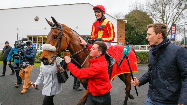 Pilgrims Bay: returning under James Best after victory in the BetBright Handicap Chase
