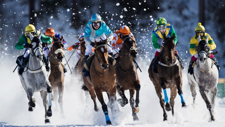 Racing will return to the frozen lake at St Moritz next month