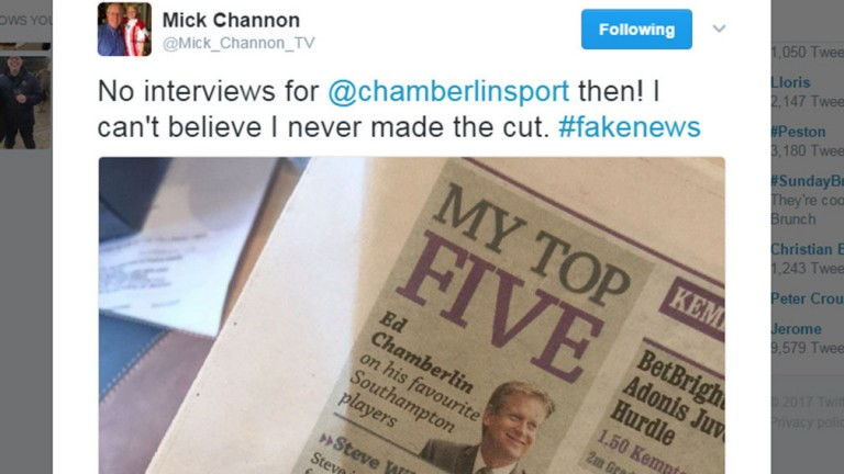 Mick Channon tweet