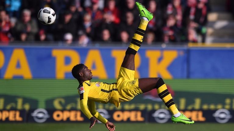 Borussia Dortmund's Ousmane Dembele