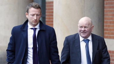 David Nicholls (right) with solicitor David Harbron