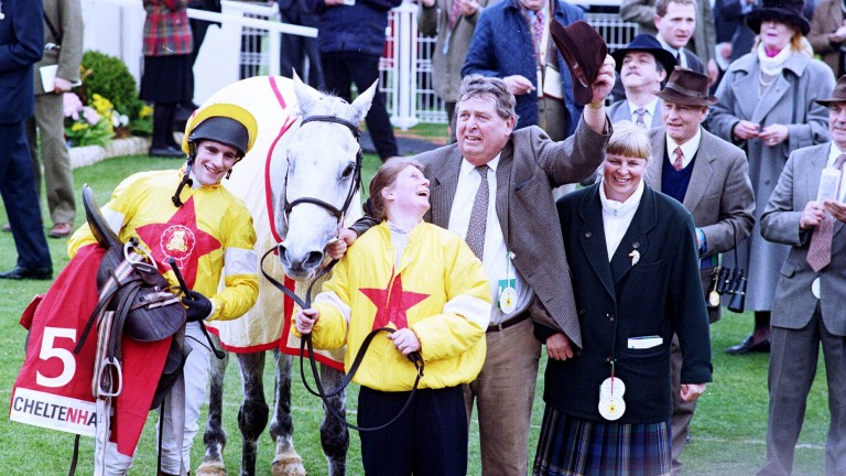 Brian Harding enjoyed his biggest victory in Britain on One Man in the Queen Mother Champion Chase at Cheltenham