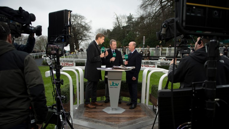 The ITV Racing team at Sandown in January