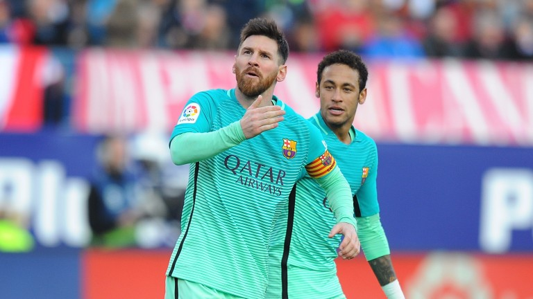 Lionel Messi scored Barcelona's winner at Atletico Madrid