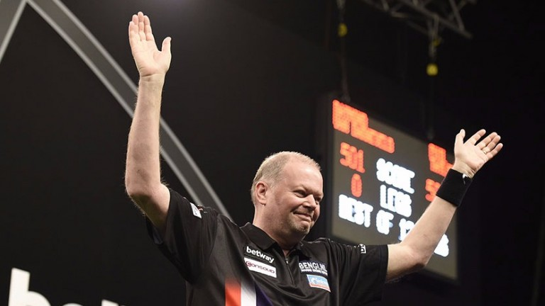 Raymond van Barneveld could be all smiles after his clash with Dave Chisnall