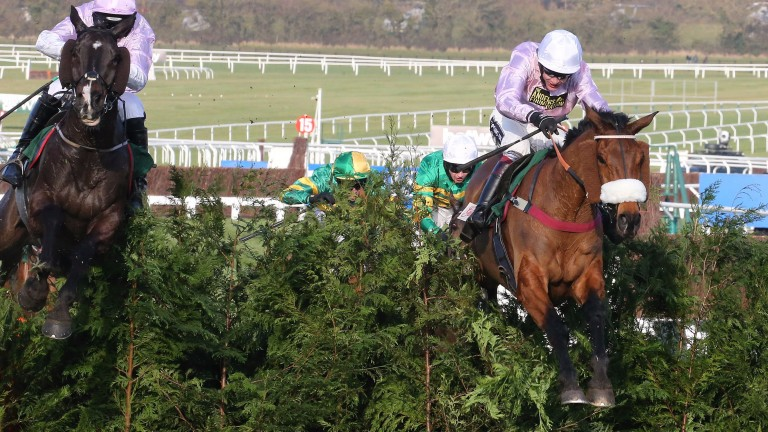 Any Currency and Aidan Coleman (right) en route to winning last year's Cross Country