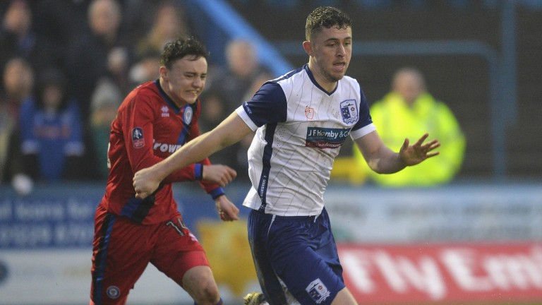 Daniel Rowe (right) is a crucial part of Barrow's midfield