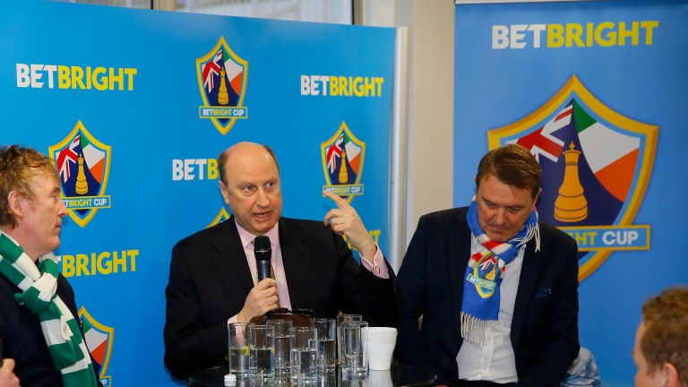 Ireland's Britain's Betbright Cup captain Hector O hEochagain (left) may well put one over his British counterpart Phil Tufnell (right) after the pair's roles were announced by Rich Ricci (centre)