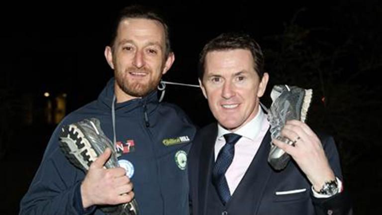 Sir Anthony McCoy with marathon man John Reay