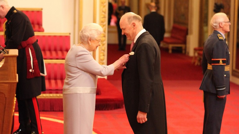 John Gosden is created an OBE by the Queen in March 2017