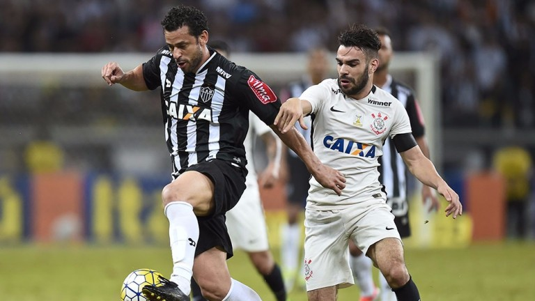 Fred (left) has been banging in the goals for Atletico Mineiro