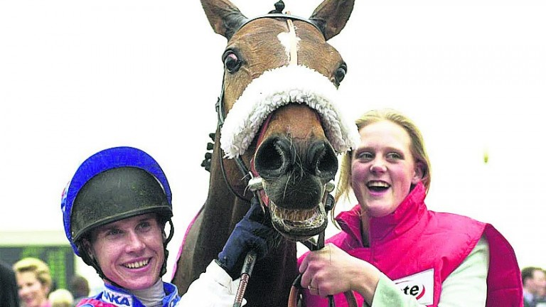 Johnson with his Gold Cup winner Looks Like Trouble in 2000