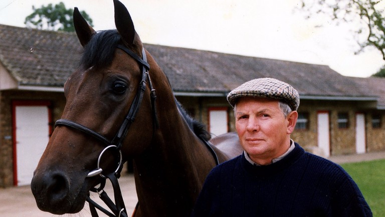 Jim Leigh pictured with Royal Ascot winner On Tiptoes