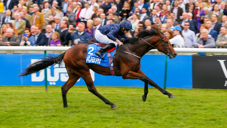 Air Force Blue lands the Dewhurst Stakes under Ryan Moore