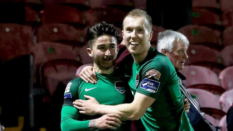 Striker Sean Maguire (left) is in cracking form for Cork