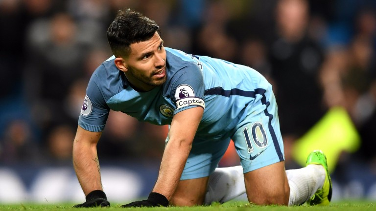 Sergio Aguero failed to score in Wednesday's bore draw with Stoke