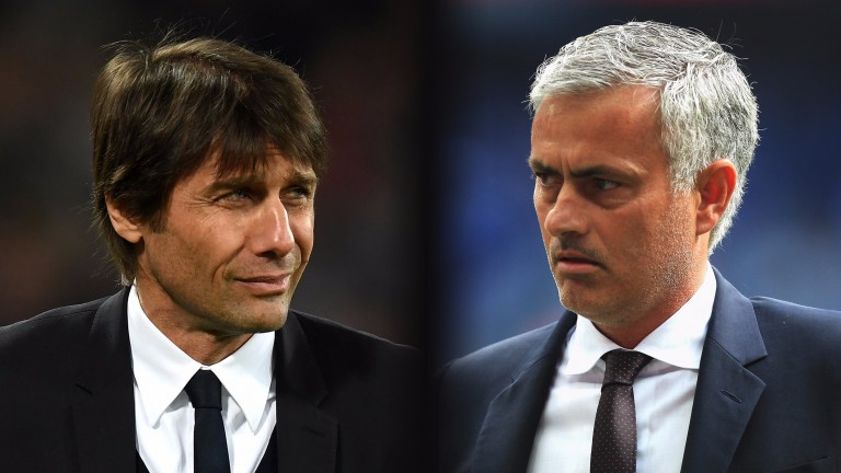 Chelsea manager Antonio Conte takes on former Blues boss Jose Mourinho