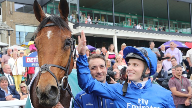 Antiquarium and James McDonald after landing the Northumberland Plate