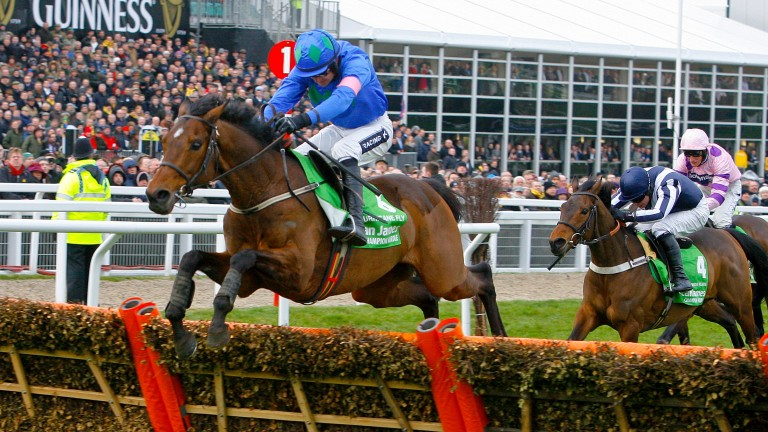 Hurricane Fly, one of three dual winners of the Unibet Champion Hurdle this century