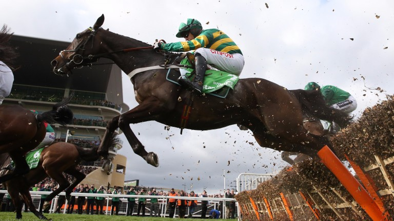Buveur D'Air on his way to a four-and-a-half-length victory in the Champion Hurdle