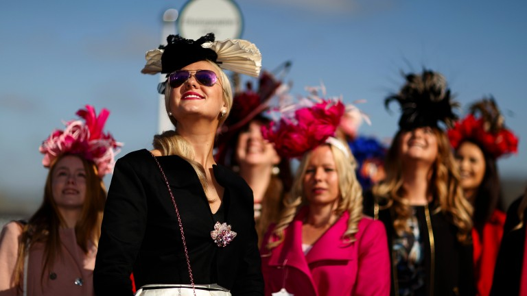 Here come the girls: a group of women bring the colour to ladies' day