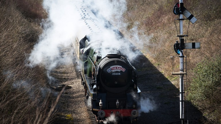 All aboard: racegoers arrive by steam for day two of the festival
