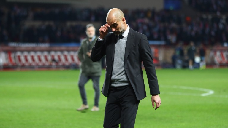 Pep Guardiola's Manchester City were knocked out of the Champions League by Monaco