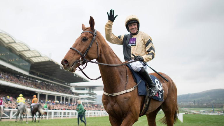 Ruby Walsh acknowledges his success on Yorkhill