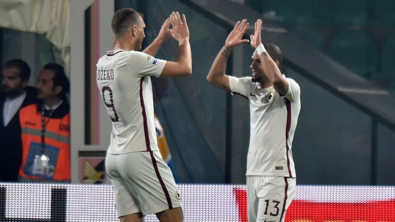 Roma will hope to celebrate against Sassuolo in Serie A