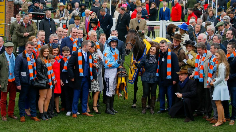 Nailing their colours to the mast: the Un De Sceaux team had plenty to celebrate