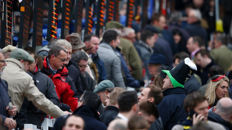 Down but not out: the bookmakers were on top after day two but the punters returned for more