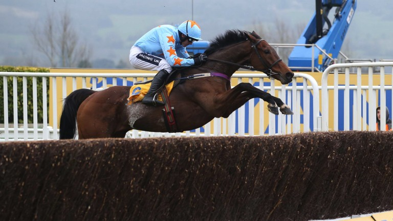 Aeroplane: Un De Sceaux is jet-propelled at the last on his way to winning the Ryanair Chase