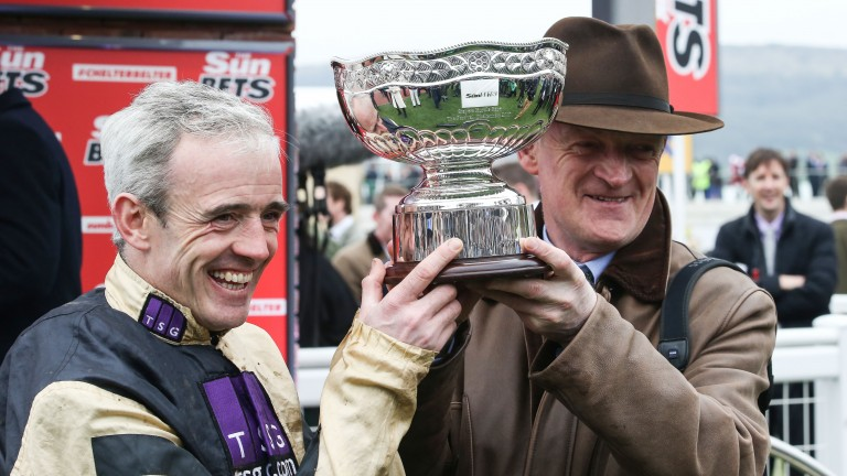 Prize guys: Walsh and Mullins after Stayers' Hurdle glory for Nichols Canyon