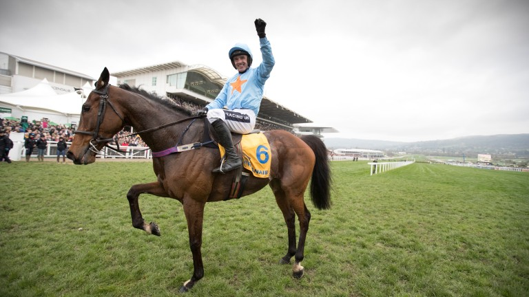 Un de Sceaux and Ruby Walsh after winning the Ryanair Chase