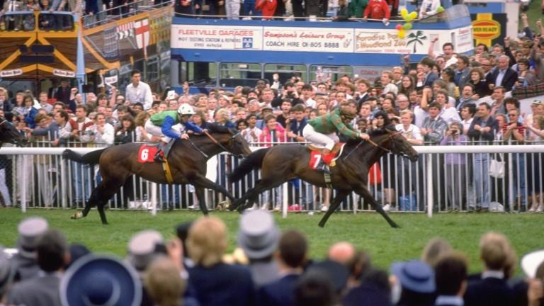Ray Cochrane won the 1988 Derby on Kahyasi for Luca Cumani