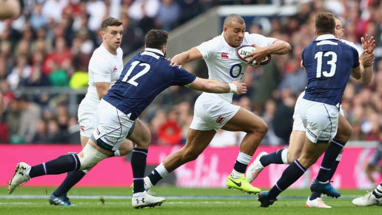 England centre Jonathan Joseph ran in three tries against Scotland