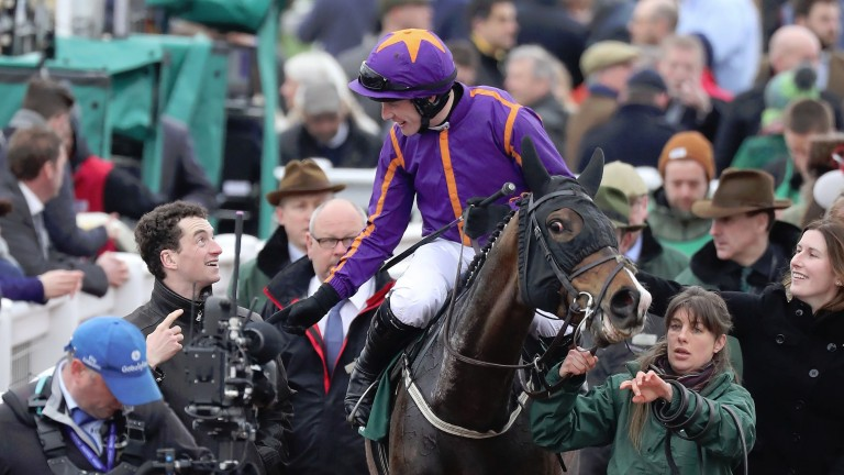 Paul Townend after Arctic Fire's County Hurdle win at the Cheltenham Festival in March