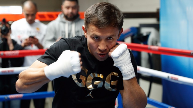 Gennady Golovkin prepares to face Daniel Jacobs