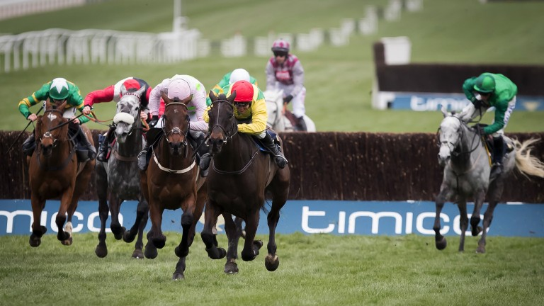 Sizing John (middle): stays on up the hill to secure Gold Cup success