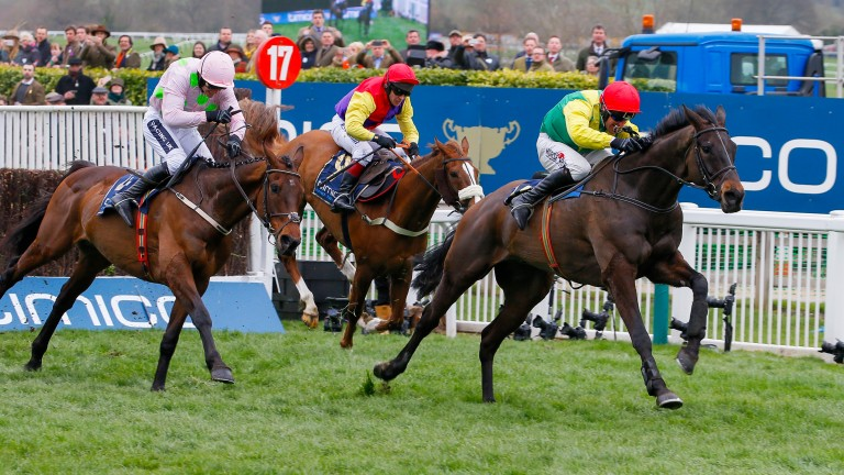 Sizing John on his way to Cheltenham Gold Cup victory