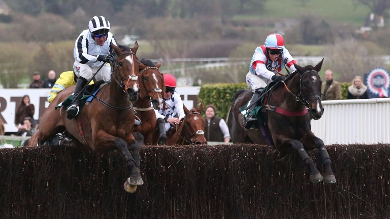 Rock The World (left) on his way to Grand Annual success