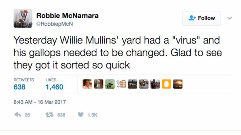 Robbie McNamara tweet