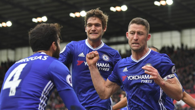 Chelsea's Gary Cahill (right) scored the winner