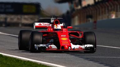 Sebastian Vettel impressed in pre-season testing at Barcelona