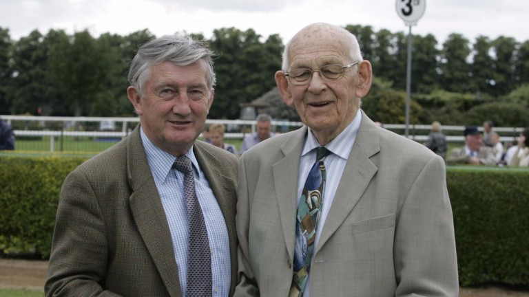 Finbarr Slattery (right): died on Saturday aged 92